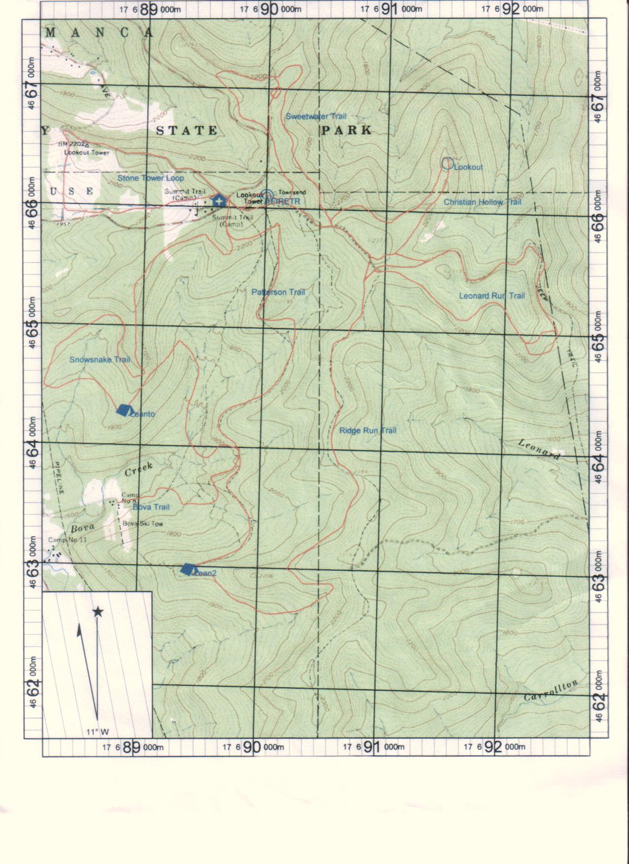 Trail Maps & Grooming – Allegany Nordic