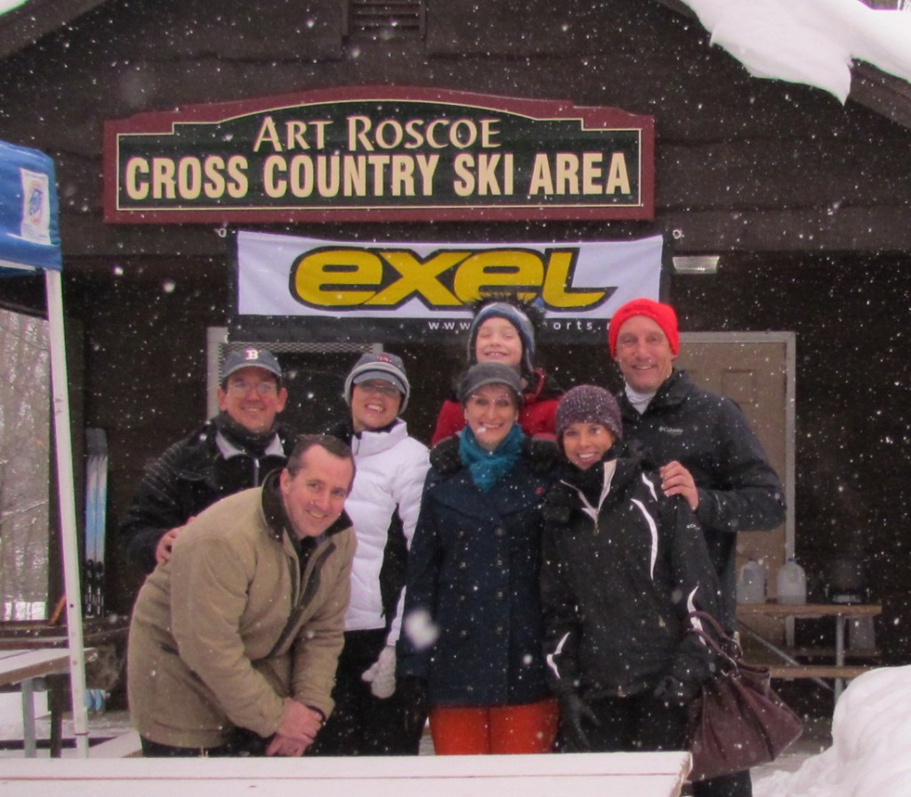 The Roscoe clan reunited at ASP for the Art Roscoe Loppet in February this year. In the photo above, front row: Craig Roscoe, Tammy  Roscoe, Carrie Sheffield (Mick's daughter). Back row: Dana Roscoe, Heidi Roscoe Shea,  Jack Roscoe (Craig and Tammy's son), Mick Sheffield.